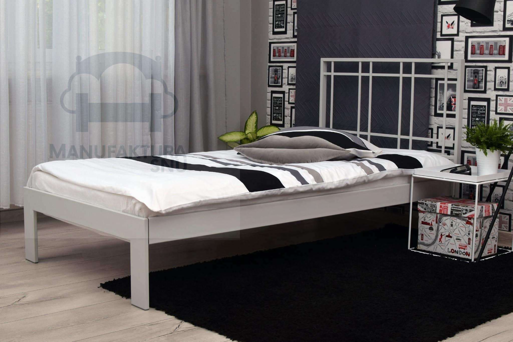 Premium Jednoosobowe łóżko Metalowe W Stylu Industrialnym