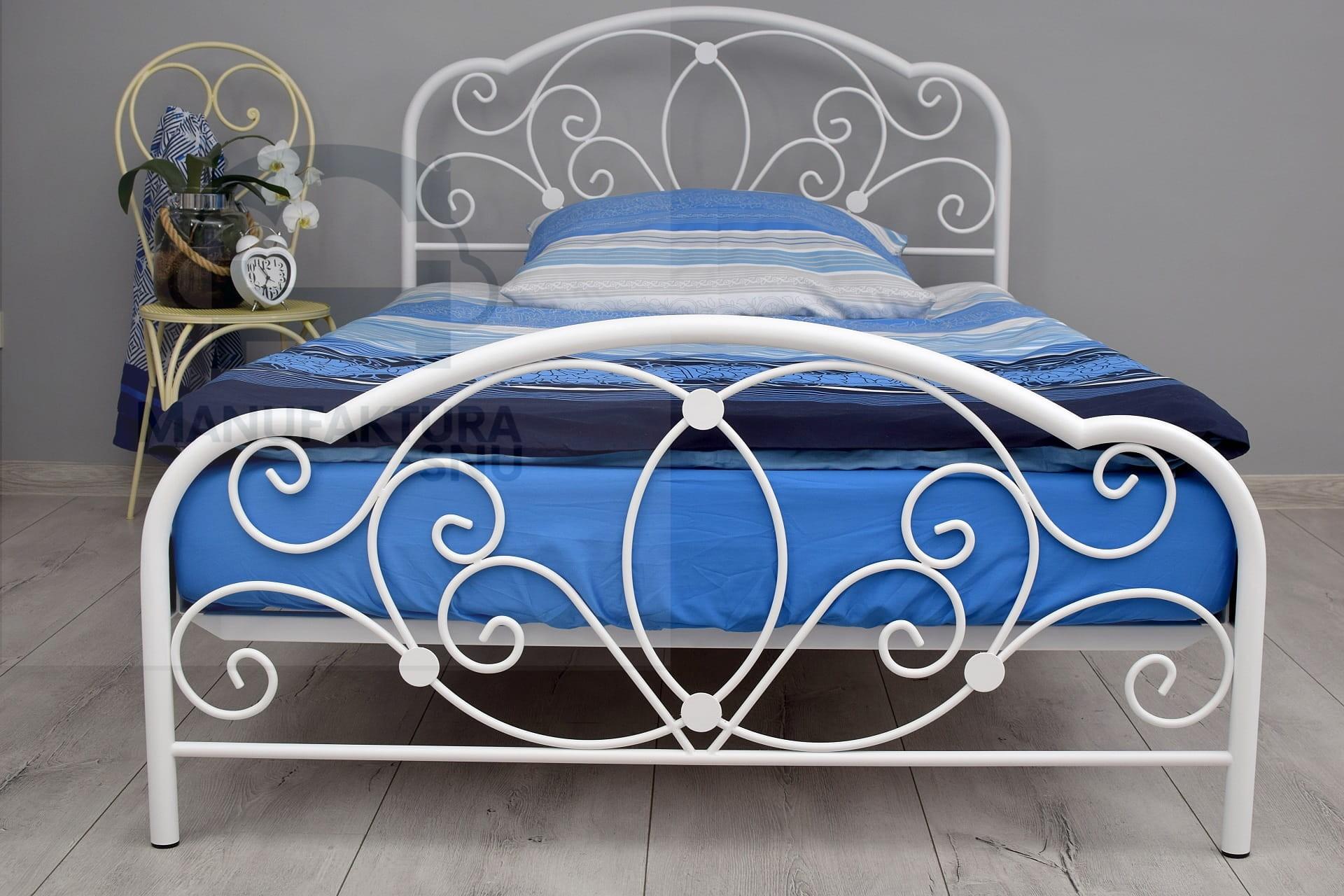 Pojedyncze łóżko Metalowe Glamour W Rozmiarze 120x200 Cm